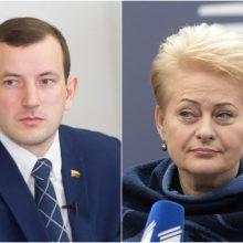 D. Grybauskaitė apie V. Sinkevičiaus portfelio EK svarbą: viskas jo paties rankose