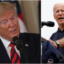 Po informatoriaus skundo D. Trumpas su J. Bidenu apsisvaidė kaltinimais