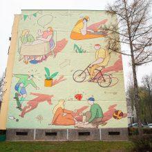 Ant Kauno daugiaaukščio sienos – priminimas apie kasdienius džiaugsmus