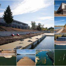 Lampėdžio ežero pakrantėje ryškėja naujosios irklavimo bazės kontūrai
