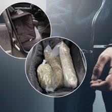 """Su """"Wolt"""" krepšyje laikytais narkotikais įkliuvęs įtariamasis suimtas maksimaliam terminui"""
