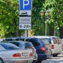 Paaiškės, ar miesto centre keisis automobilių stovėjimo tvarka