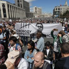 Maskvoje surengtas mitingas už žodžio laisvę