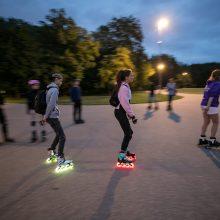 Judumo savaitė: vilniečiai išriedės į naktinio miesto gatves