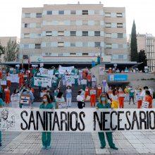 Ispanijoje medikams trūksta apsaugos priemonių: surengė protestą