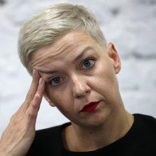 Baltarusijos opozicionierė M. Kalesnikava pervežta į kitą tardymo izoliatorių