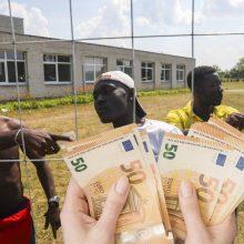 Grįžti į gimtinę norintiems migrantams bus teikiama 300 eurų parama