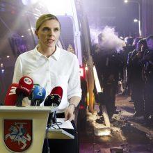 A. Bilotaitė: atsakomybė dėl riaušių prie Seimo turi būti greita