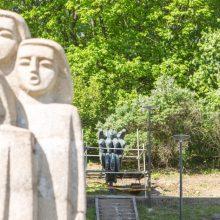 Skulptūrų skverelyje prie Menininkų namų – neregėtas vaizdas