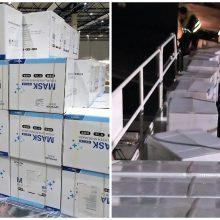 Į Lietuvą atgabenta dalis Kinijoje pirktų medicininių apsaugos priemonių (atnaujinta)