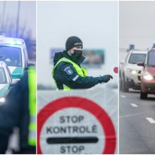 Pasipiktino automobilių tikrinimu postuose: policija formuoja milžiniškas spūstis