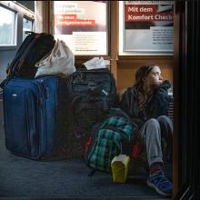 G. Thunberg nuotrauka perpildytame traukinyje sukėlė diskusijų audrą