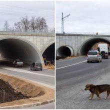 Uždaryta Amalių pervaža: eismas vyksta nauju tuneliu