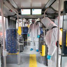 """""""Kauno autobusuose"""" – jau šeši sergantys koronavirusu, tiriami dar 150 darbuotojų"""