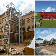 Kauno švietimo įstaigose užvirė statybos