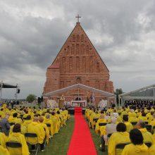 Valstybės diena pakaunėje: šventė surengta atnaujintose Zapyškio bažnyčios erdvėse