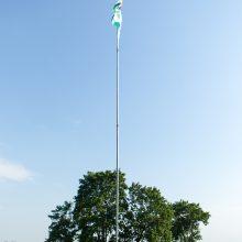 Ant Pelėdų kalno suplevėsavo šaulių vėliava