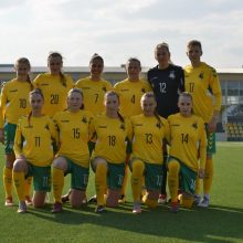Prieš istorinį startą paskelbta Lietuvos moterų futbolo rinktinės sudėtis