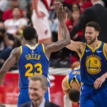 """""""Warriors"""" klubas penktą kartą iš eilės žais NBA finale"""