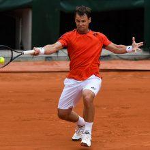 Tenisininkas R. Berankis Maskvoje pralaimėjo ir dvejetų varžybose