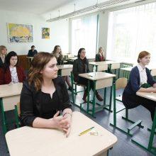Abiturientai laiko anglų kalbos egzamino klausymo, skaitymo ir rašymo dalį