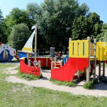 Vaikų žaidimų aikštelių – vis daugiau