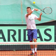 Tenisininkas L. Grigelis Libane nepateko į finalą