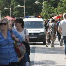 J. Basanavičiaus gatvėje uždrausta vasarą važiuoti paspirtukais, dviračiais