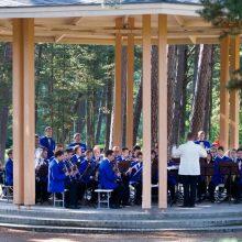 Palangos Birutės parką vėl nuspalvins pučiamųjų muzikos garsai