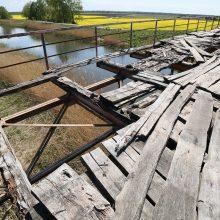 Kaina: Jokšų tiltui sutvarkytų reikėtų per milijoną eurų.