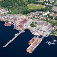 Lindenau statyklos ir laivų likimai panašūs