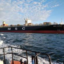 Uostai didžiuojasi dideliais laivais