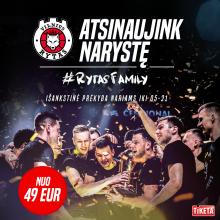 """Prasideda išankstinė prekyba kito sezono Vilniaus """"Ryto"""" narystėmis"""