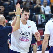 Serbijos krepšininkai nugalėjo italus