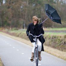 Eismo sąlygas Lietuvoje sunkina gūsingas vėjas