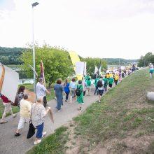Šančių bendruomenė surengė pasipriešinimo naujai gatvei akciją