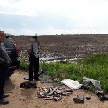 Pasieniečių sulaikyti brakonieriai bandė atsikratyti tinklais ir žuvimi
