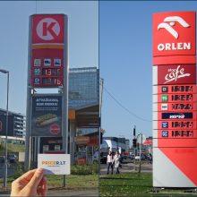 Kyla degalų kainos: ypač pabrango dyzelinis kuras