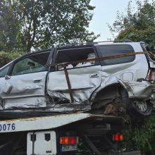 Masinė avarija Marijampolės plente: susidūrė du automobiliai ir šiukšliavežis