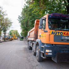 Kęstučio gatvės remonto darbai: savivaldybė pranešė dvi žinias