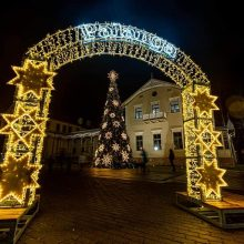 Palanga nušvito: įžiebtos Kalėdų eglės
