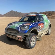 V. Žala baigė savo pasirodymą Dakaro ralyje