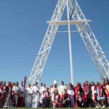Kaune iškilo aukščiausias Lietuvoje kryžius
