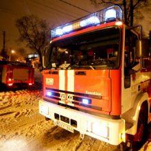 Vilniaus rajone degė medinis namas