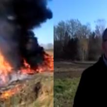 Seniūnas: deginome šakas, netyčia užsidegė padangos (vaizdo įrašas)