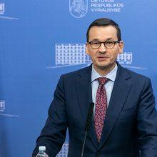 Lenkijos premjeras įspėja ES lyderius apie grėsmę Bendrijos ateičiai