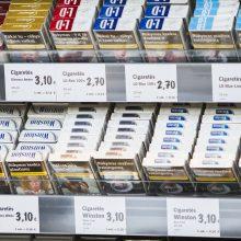 Siūloma parduotuvėse nedemonstruoti cigarečių
