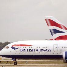 """Dėl """"British Airways"""" pilotų streiko atšaukta šimtai skrydžių"""