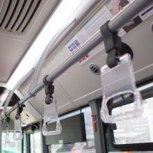 Vilniuje automobiliui atsitrenkus į autobusą nukentėjo keleivė
