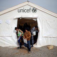UNICEF: pagalbai vaikams reikalingi 3,9 mlrd. dolerių